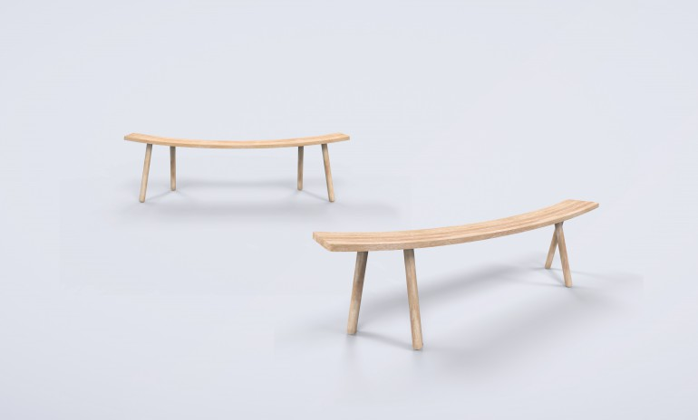 bent bench - rendering 2